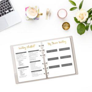 Printable Wedding Planner Kit
