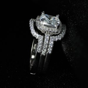 925 Sterling Silver Engagement Wedding Rings